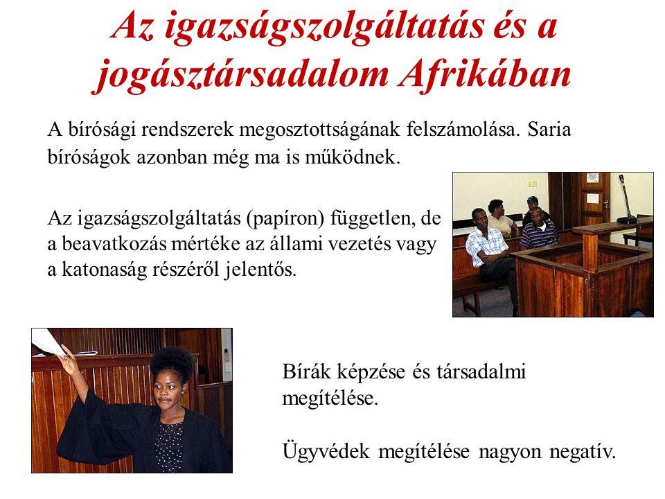 Az igazságszolgáltatás és a jogásztársadalom Afrikában