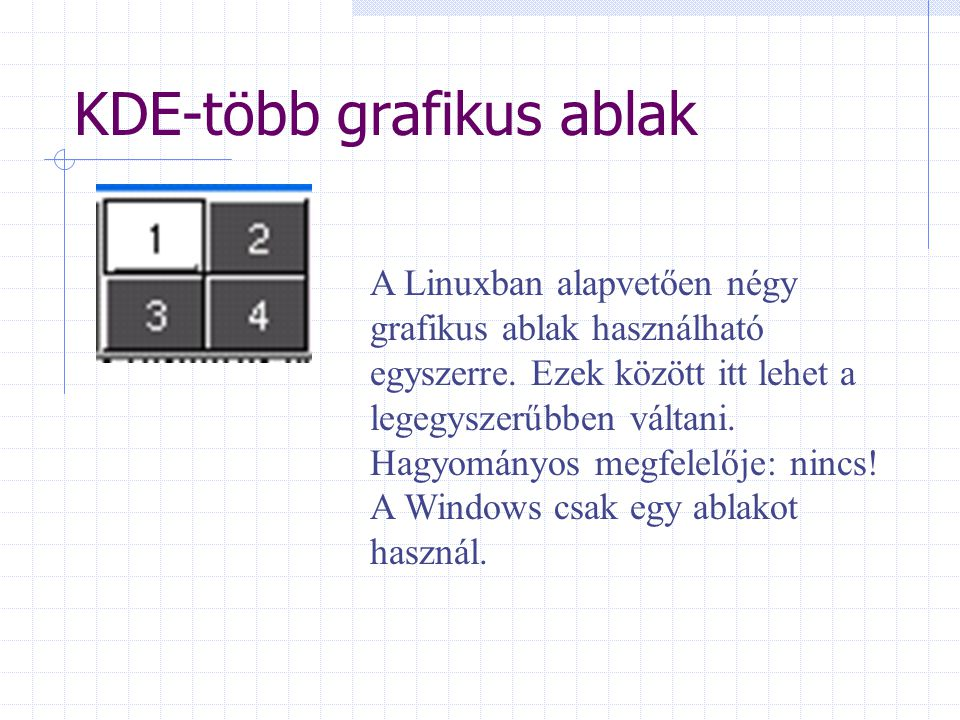 KDE-több grafikus ablak