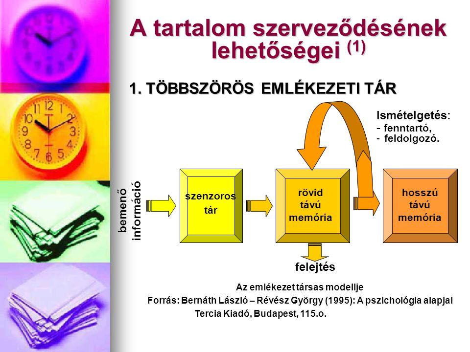 A tartalom szerveződésének lehetőségei (1)