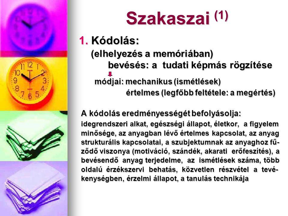 Szakaszai (1) (elhelyezés a memóriában)
