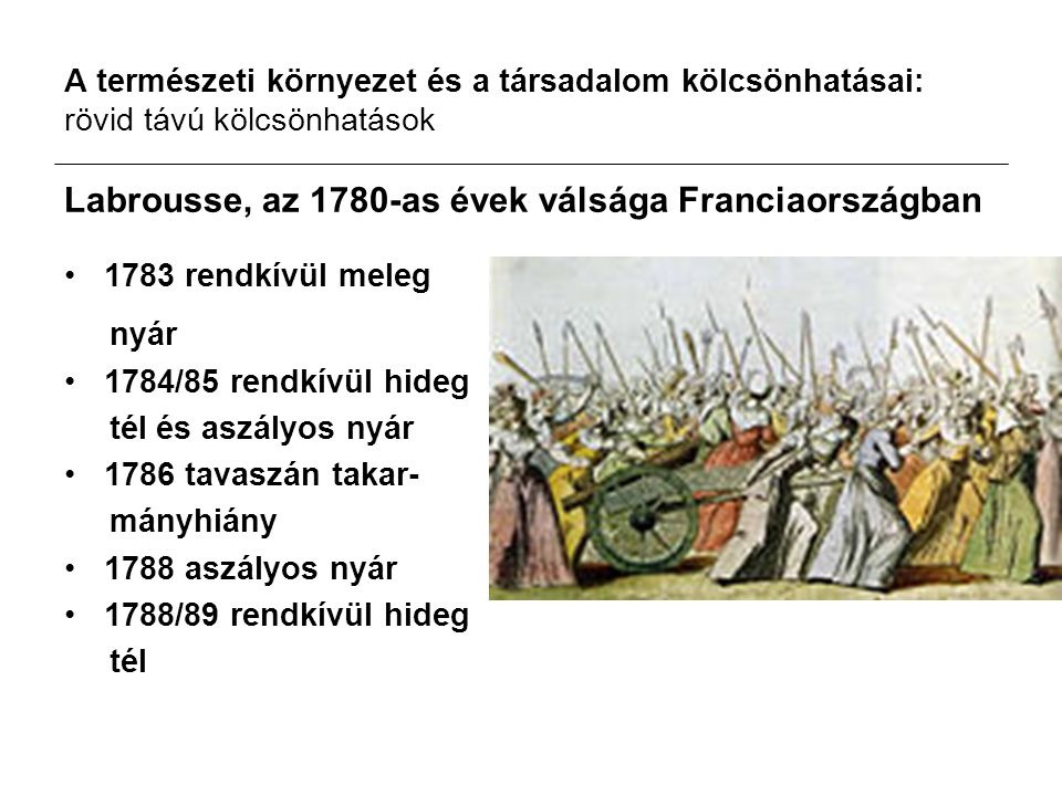 Labrousse, az 1780-as évek válsága Franciaországban