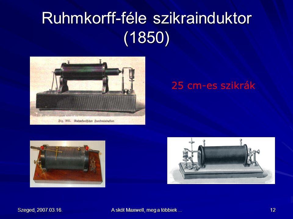 Ruhmkorff-féle szikrainduktor (1850)