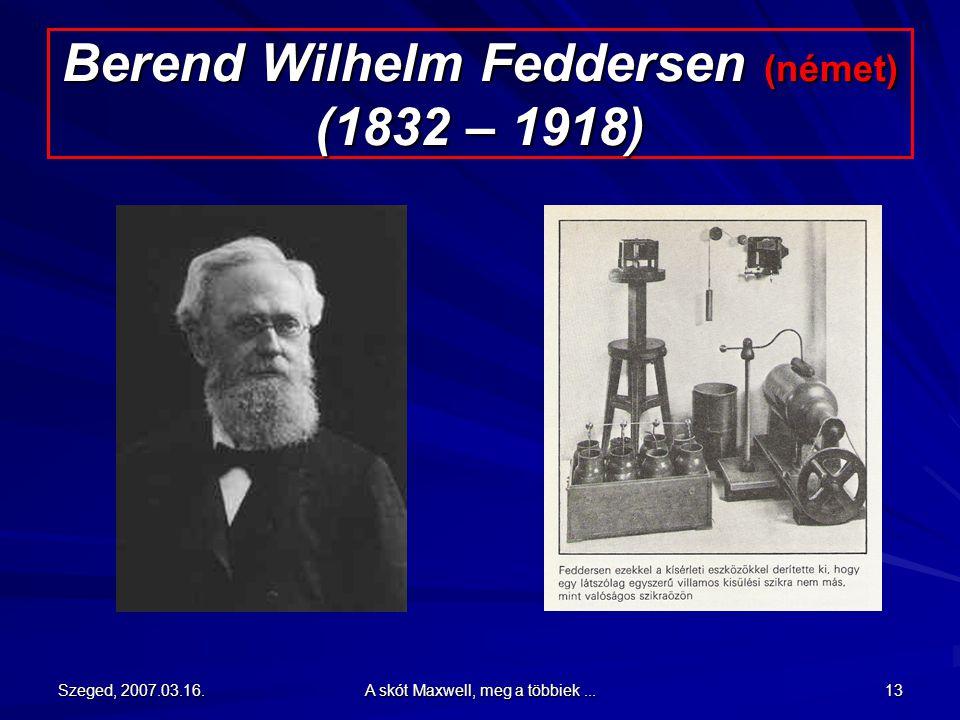 Berend Wilhelm Feddersen (német) (1832 – 1918)