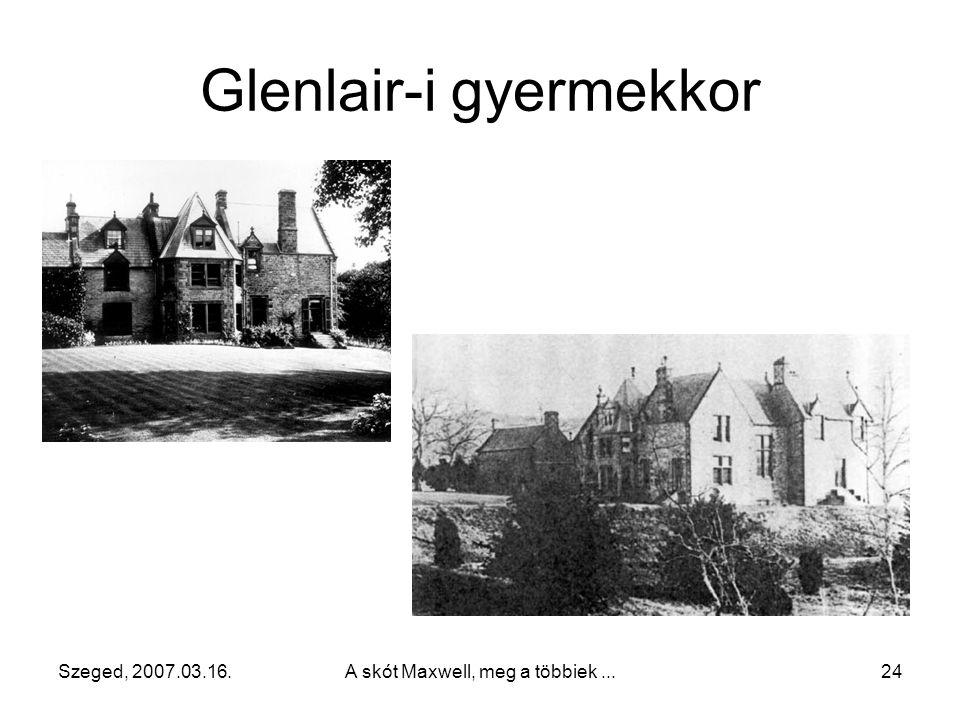 Glenlair-i gyermekkor