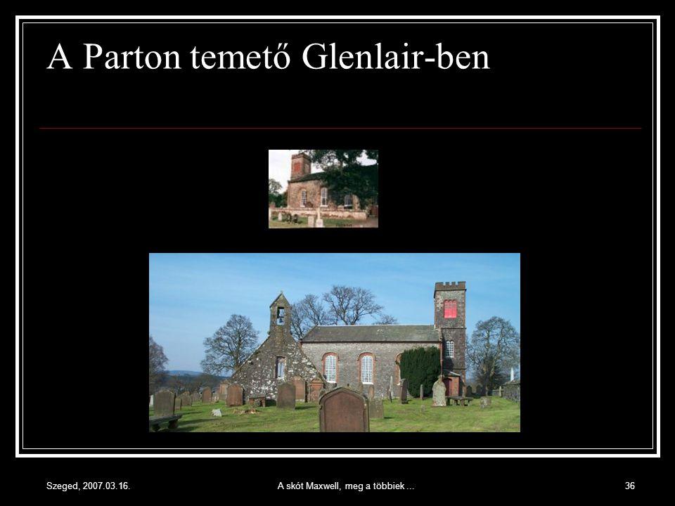 A Parton temető Glenlair-ben