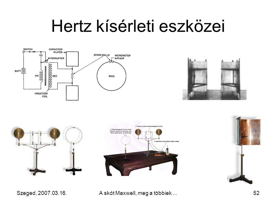 Hertz kísérleti eszközei