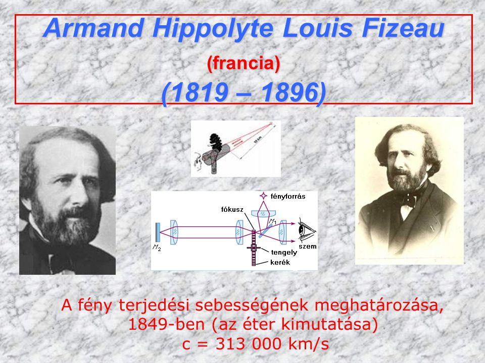 Armand Hippolyte Louis Fizeau (francia) (1819 – 1896)