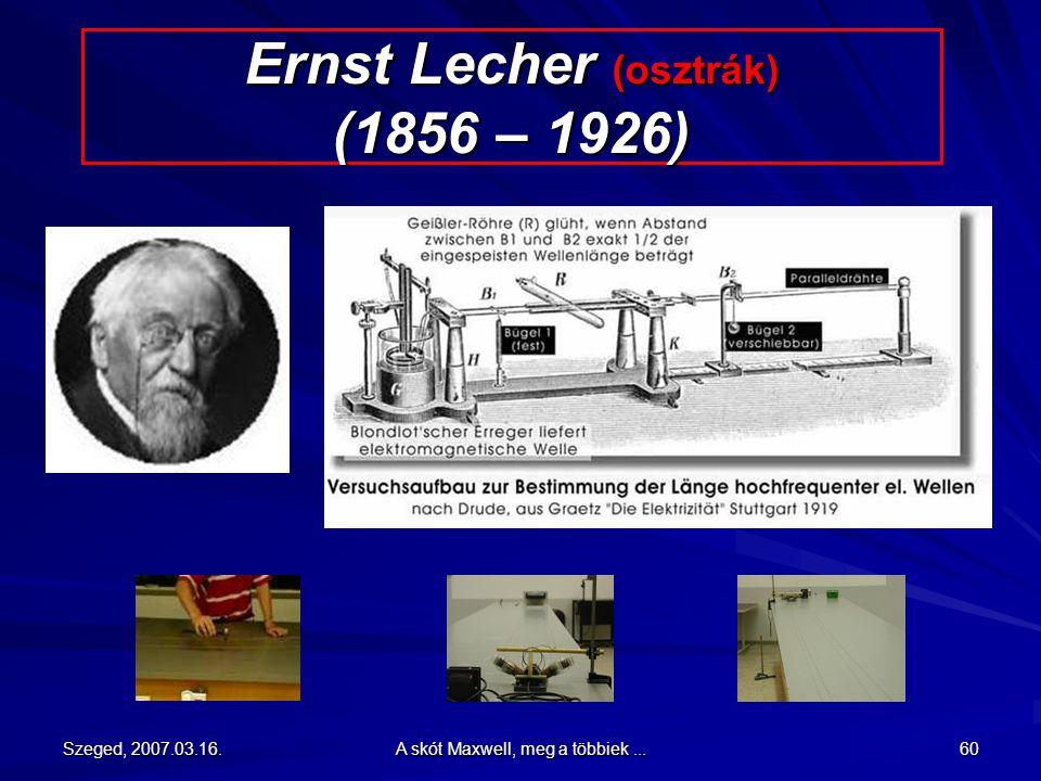 Ernst Lecher (osztrák) (1856 – 1926)