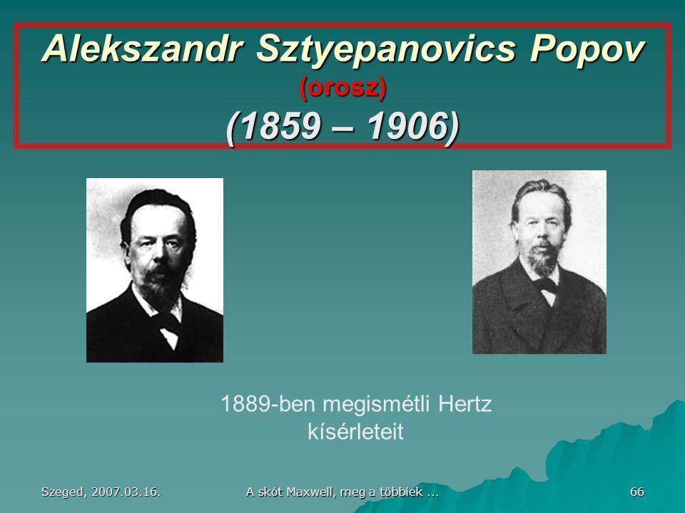 Alekszandr Sztyepanovics Popov (orosz) (1859 – 1906)