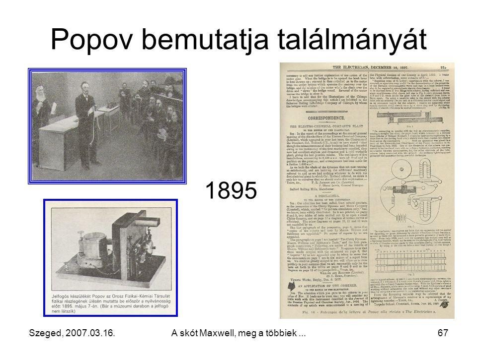 Popov bemutatja találmányát