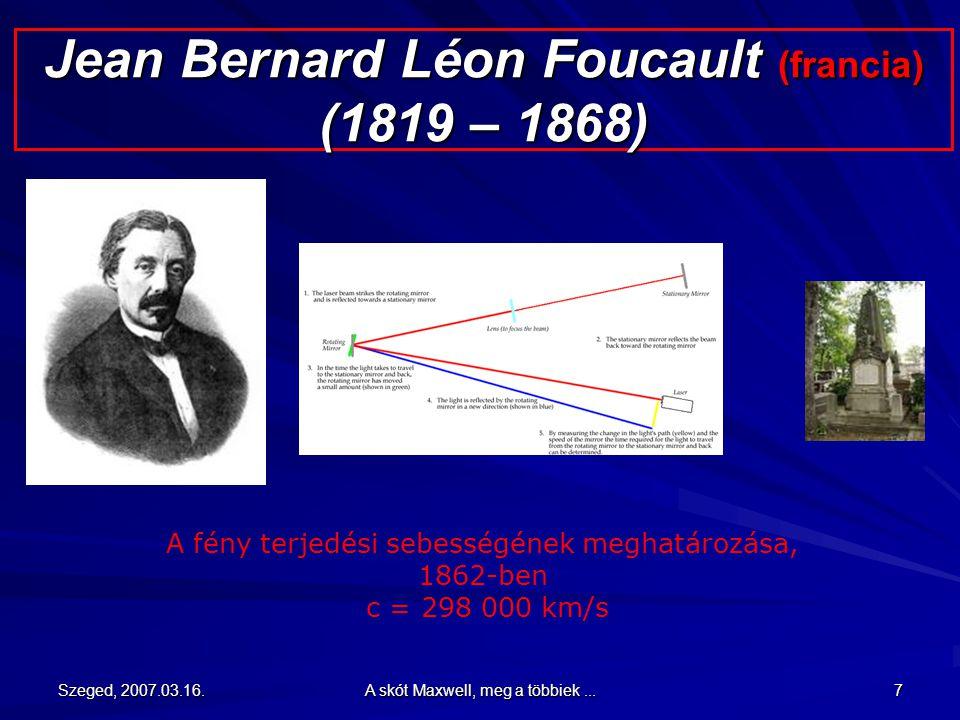 Jean Bernard Léon Foucault (francia) (1819 – 1868)