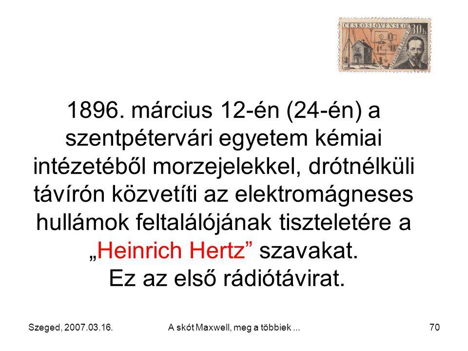 Ez az első rádiótávirat.