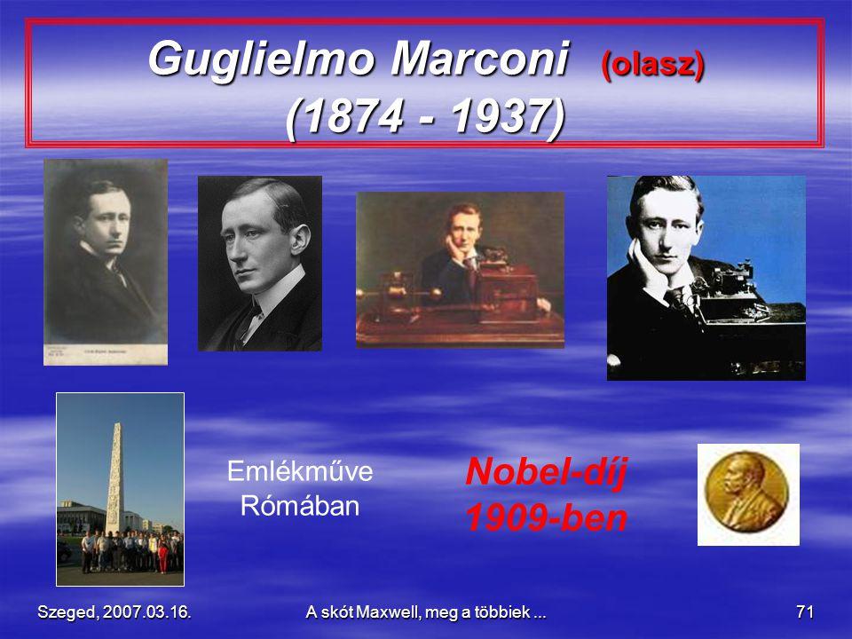 Guglielmo Marconi (olasz) (1874 - 1937)