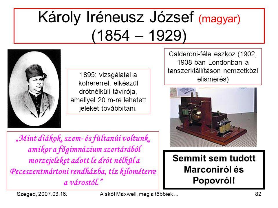 Károly Iréneusz József (magyar) (1854 – 1929)