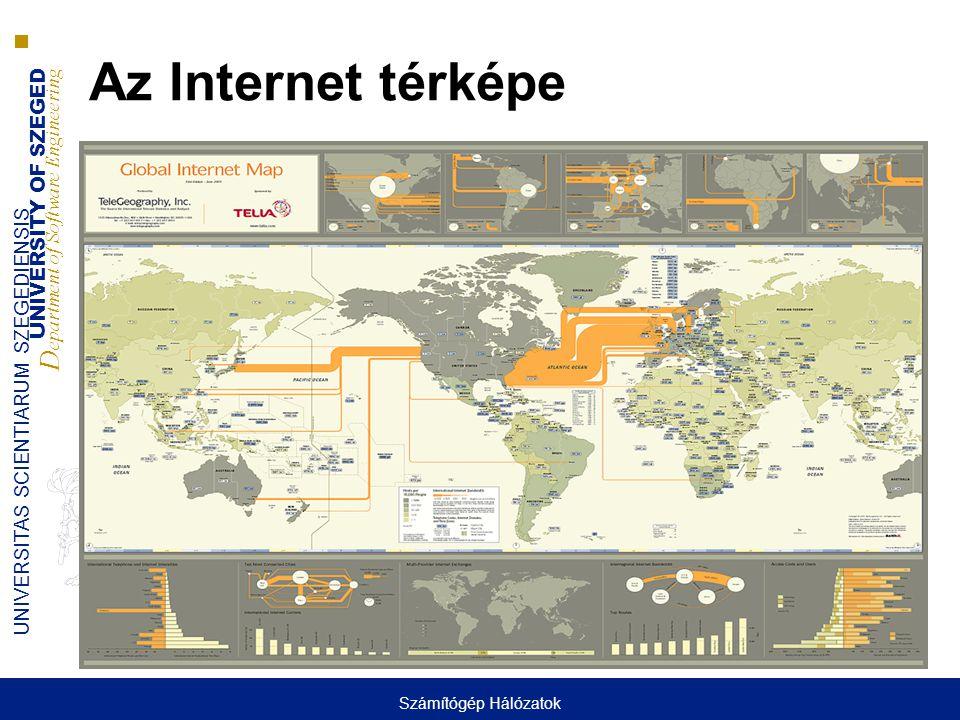Az Internet térképe Számítógép Hálózatok