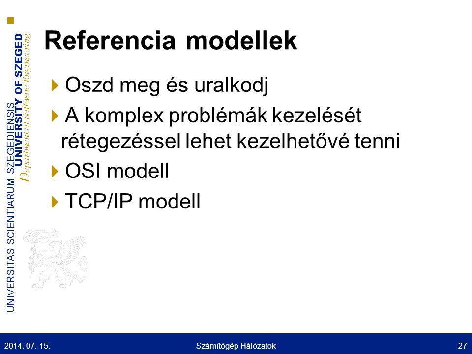 Referencia modellek Oszd meg és uralkodj