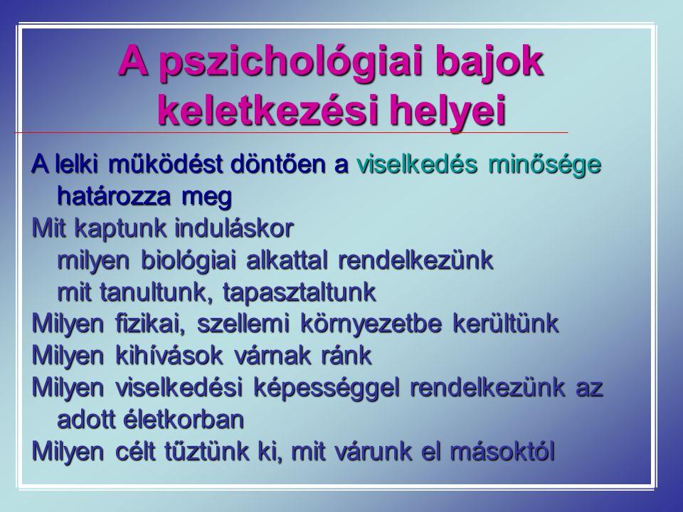 A pszichológiai bajok keletkezési helyei