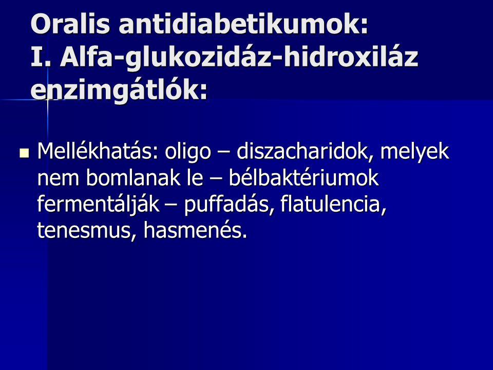 Oralis antidiabetikumok: I. Alfa-glukozidáz-hidroxiláz enzimgátlók: