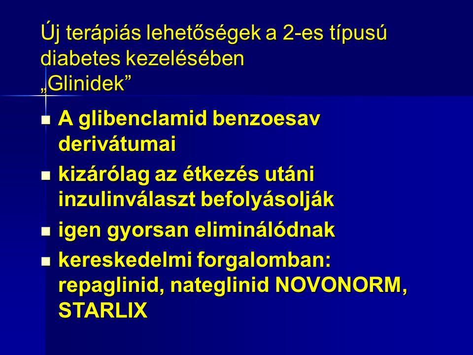 """Új terápiás lehetőségek a 2-es típusú diabetes kezelésében """"Glinidek"""