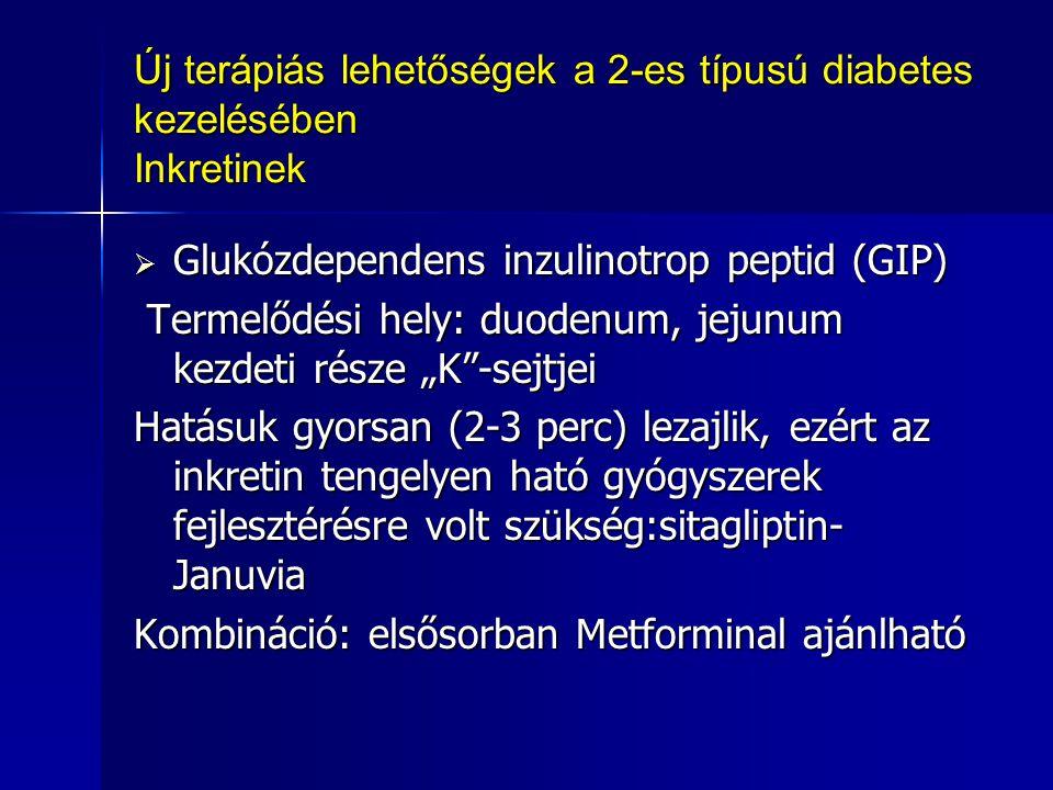Új terápiás lehetőségek a 2-es típusú diabetes kezelésében Inkretinek