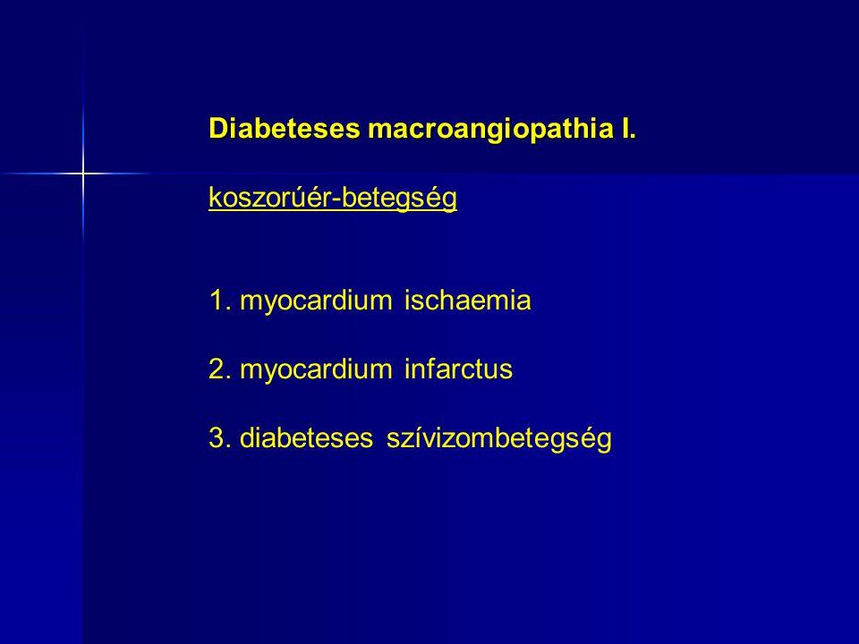 Diabeteses macroangiopathia I.