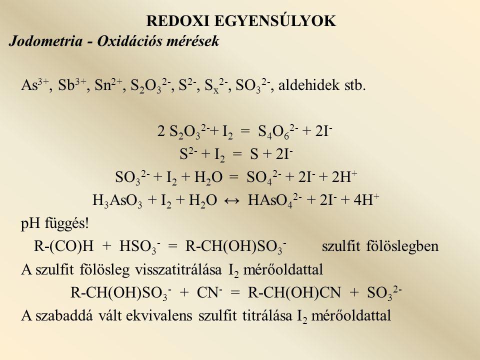 Jodometria - Oxidációs mérések