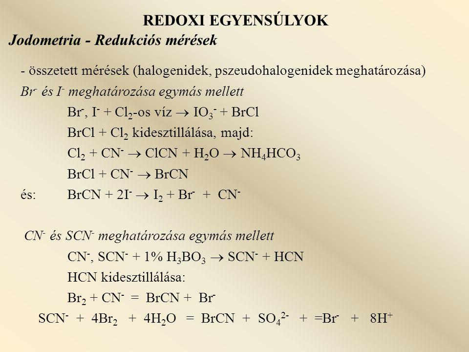Jodometria - Redukciós mérések