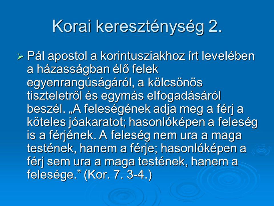 Korai kereszténység 2.