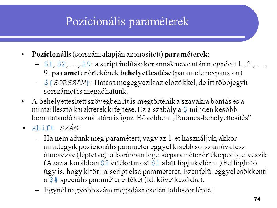 Pozícionális paraméterek