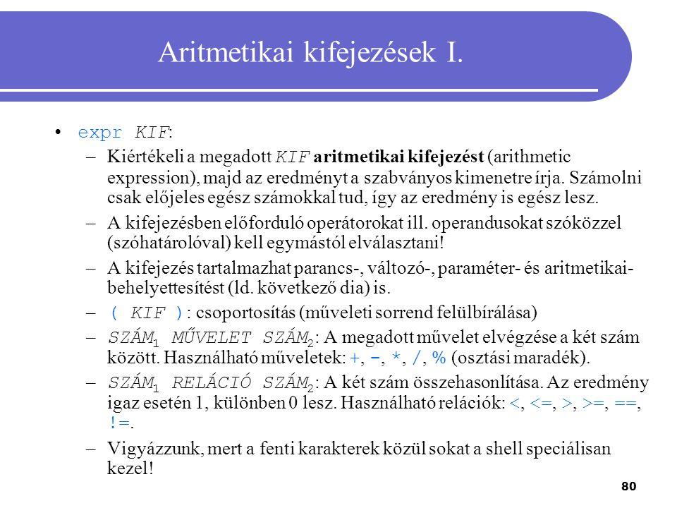Aritmetikai kifejezések I.