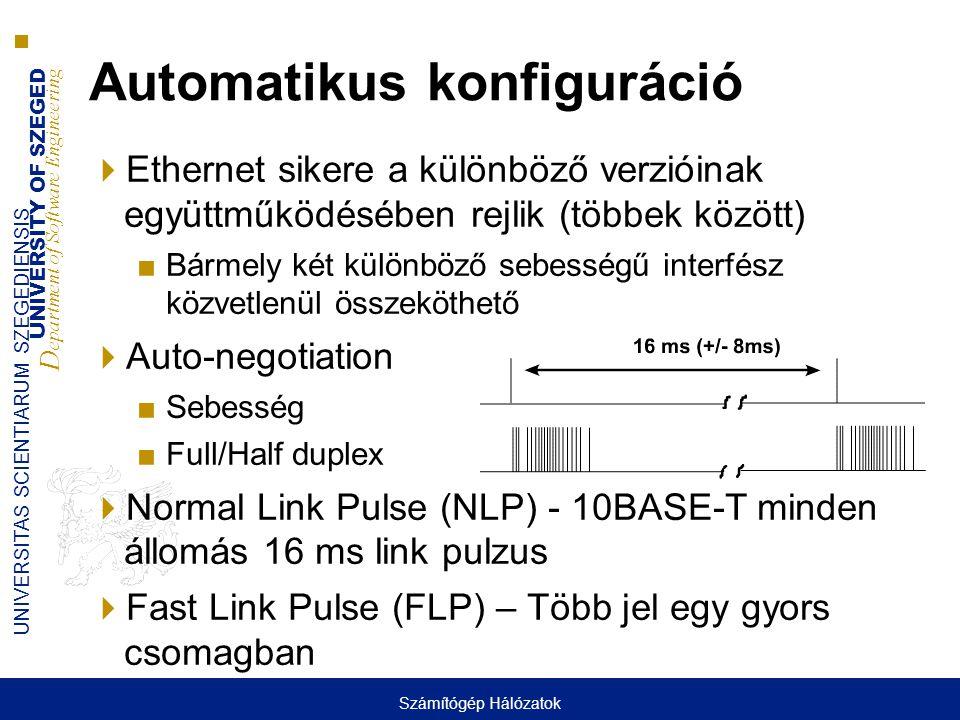 Automatikus konfiguráció
