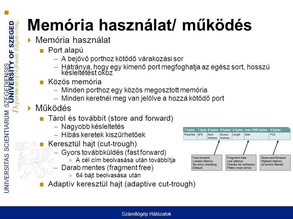 Memória használat/ működés