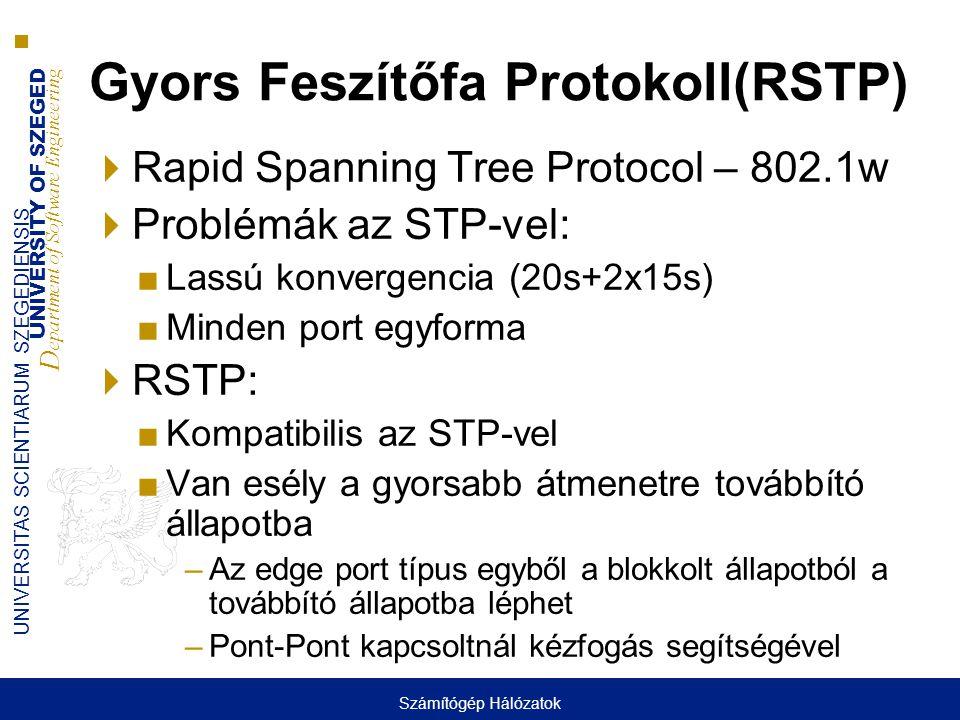 Gyors Feszítőfa Protokoll(RSTP)