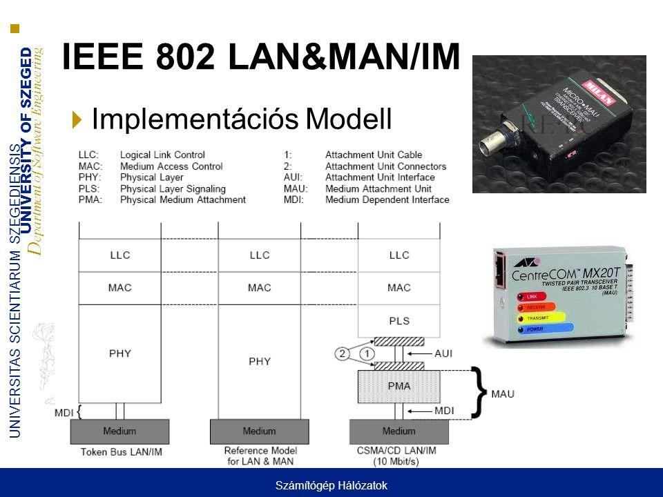 IEEE 802 LAN&MAN/IM Implementációs Modell Számítógép Hálózatok