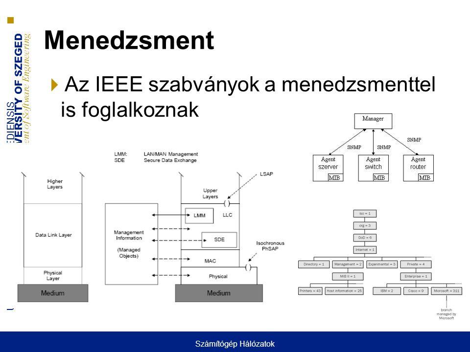 Menedzsment Az IEEE szabványok a menedzsmenttel is foglalkoznak