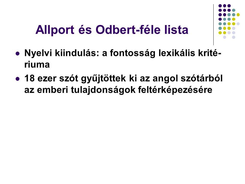 Allport és Odbert-féle lista