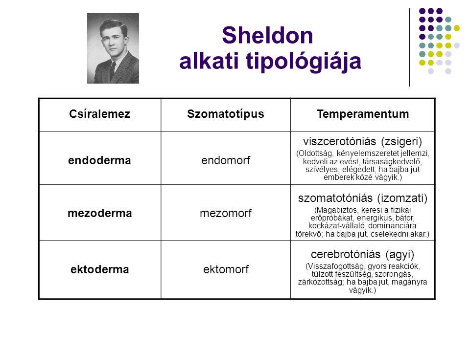 Sheldon alkati tipológiája