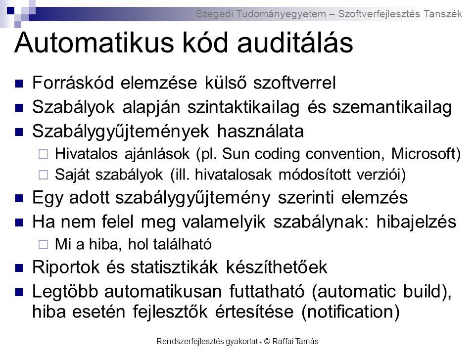 Automatikus kód auditálás