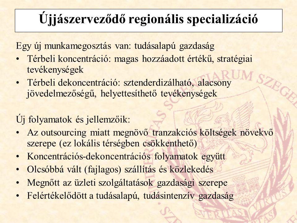 Újjászerveződő regionális specializáció