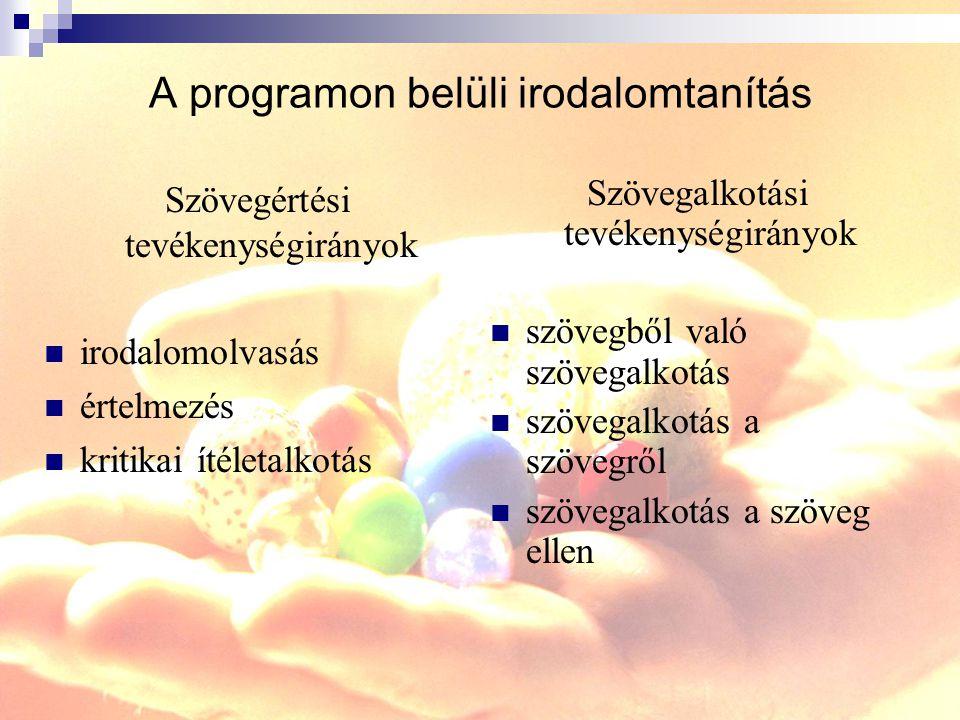 A programon belüli irodalomtanítás
