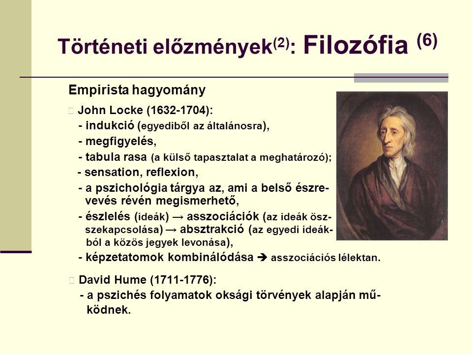 Történeti előzmények(2): Filozófia (6)