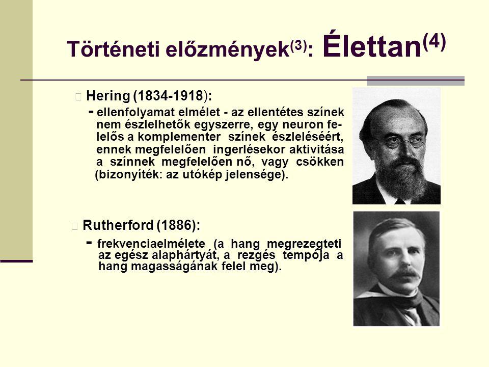 Történeti előzmények(3): Élettan(4)