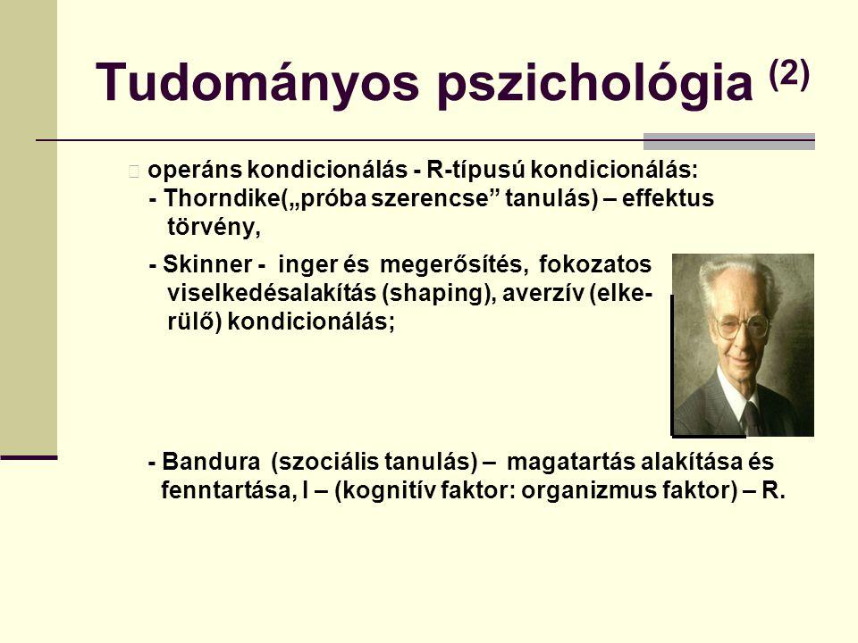 Tudományos pszichológia (2)