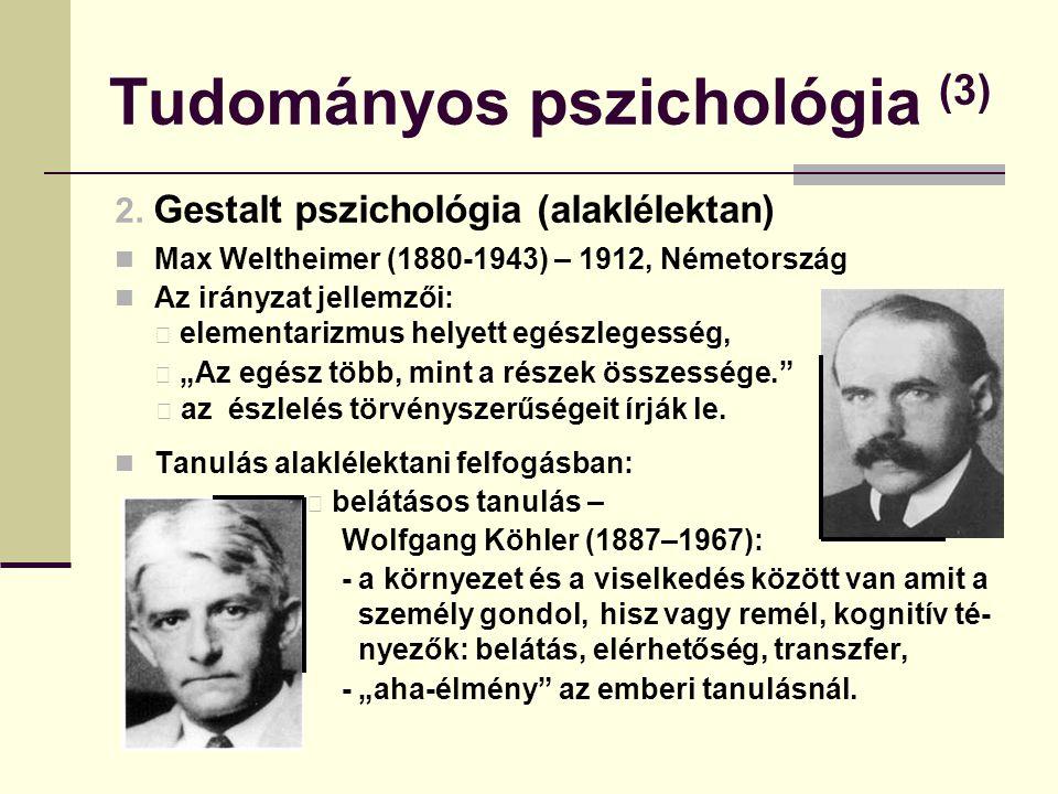 Tudományos pszichológia (3)