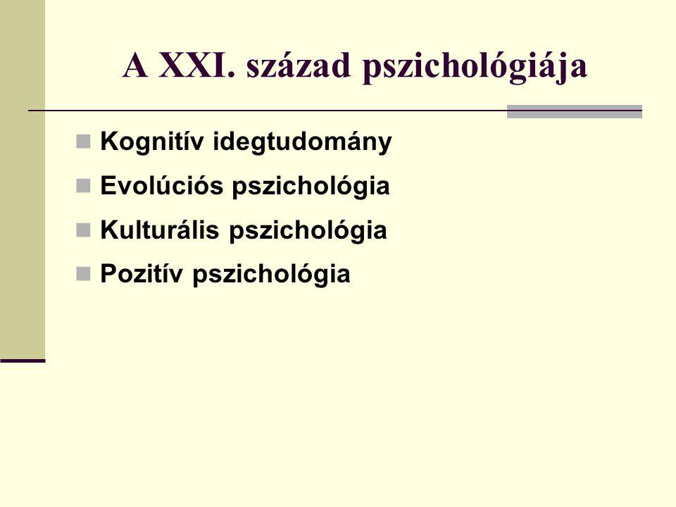 A XXI. század pszichológiája