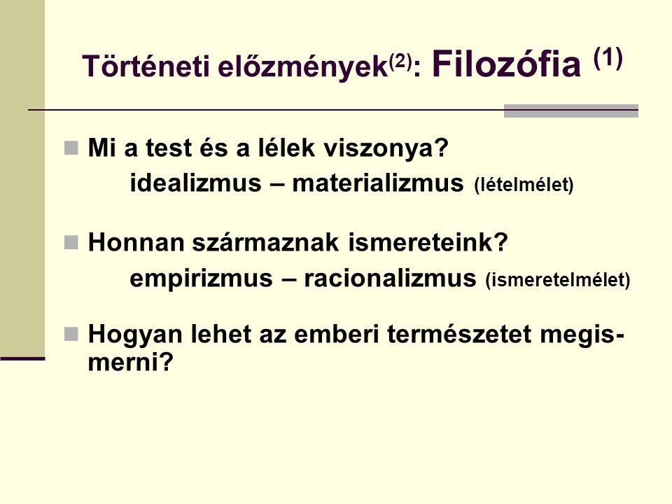 Történeti előzmények(2): Filozófia (1)