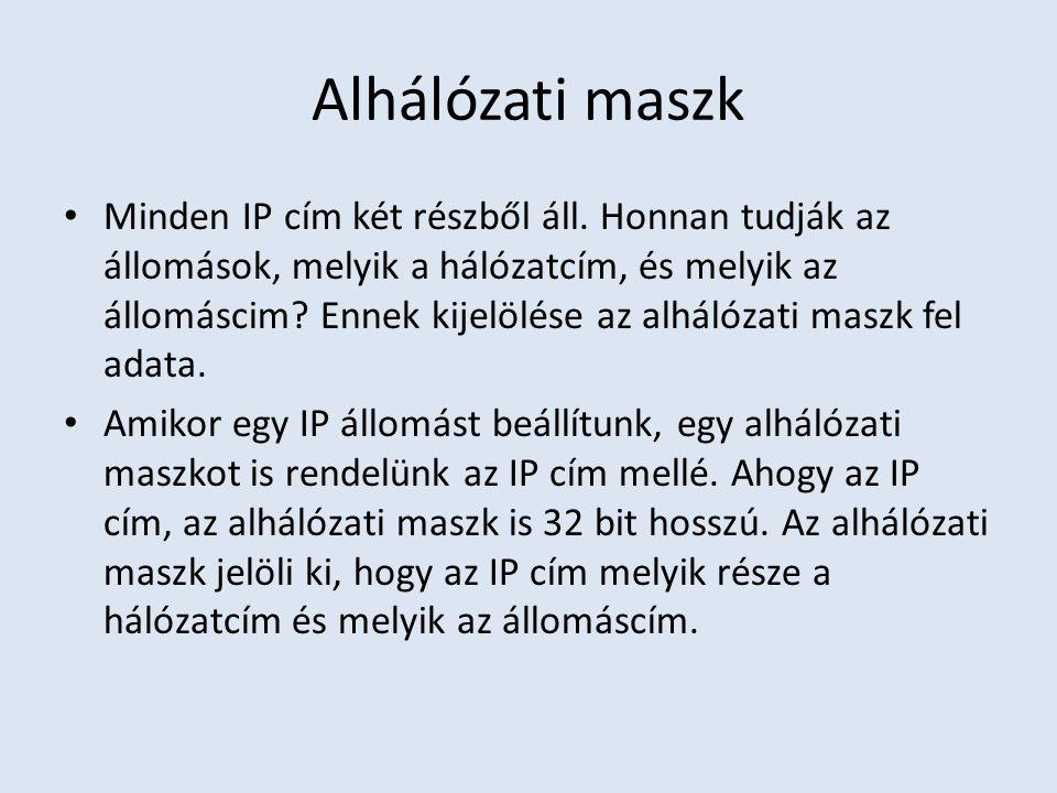 Alhálózati maszk