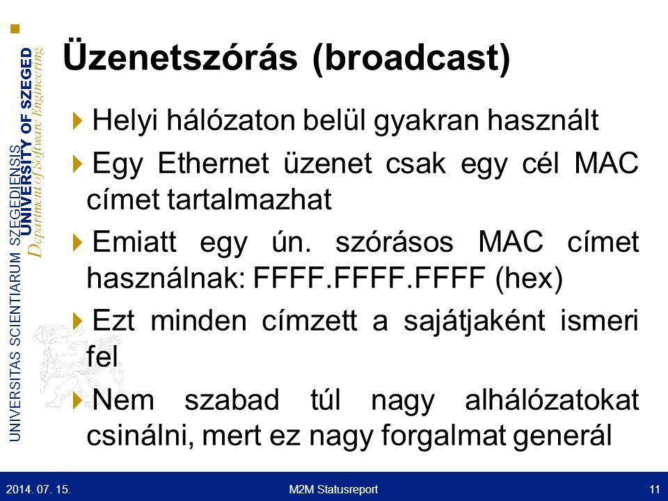 Üzenetszórás (broadcast)