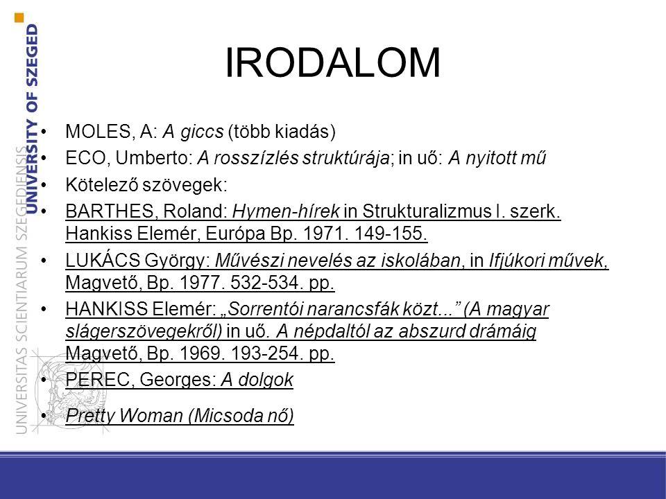 IRODALOM MOLES, A: A giccs (több kiadás)
