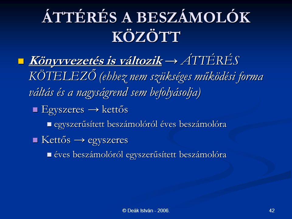 ÁTTÉRÉS A BESZÁMOLÓK KÖZÖTT